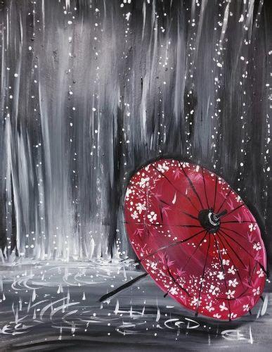paint nite vacaville raindrops on japanese umbrella paint nite