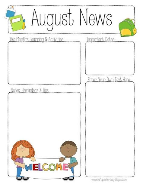free printable preschool newsletter templates 17 best images about newsletter templates on