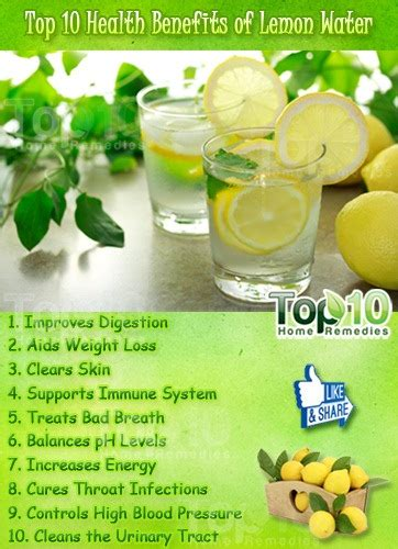 Benefits Of Lemon And Lime Detox Water by Top 10 Health Benefits Of Lemon Water Top 10 Home Remedies