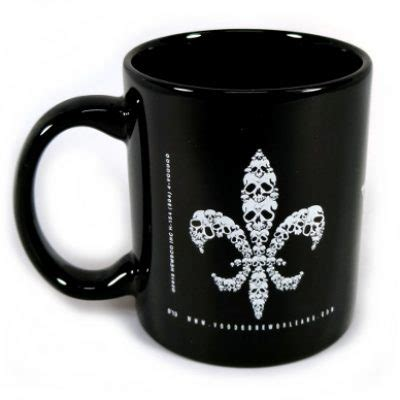 skull house decor skull de lis design house of voodoo mug