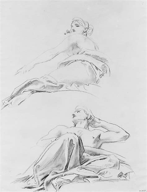 the draftsman drawing a reclining nude john singer sargent reclining figures art pinterest