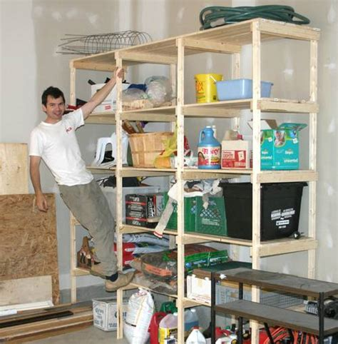 pdf diy garage storage shelf design size