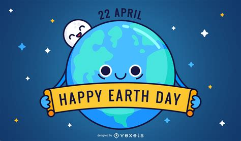 Happy Earth Day by Friednly Happy Earth Day Vector