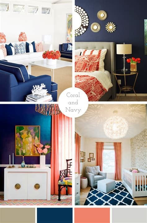 complimentary colors for navy blue home decor living