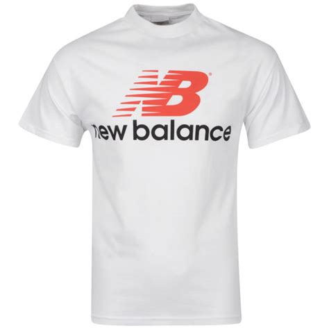 Tshirtt Shirtkaos New Balance 4 new balance s white back logo t shirt sports leisure