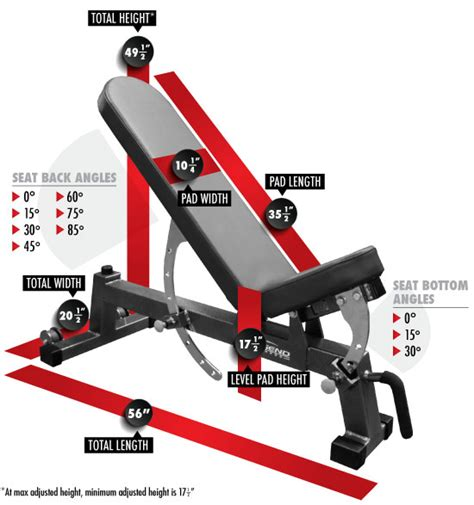 gym bench dimensions three way utility bench legend fitness