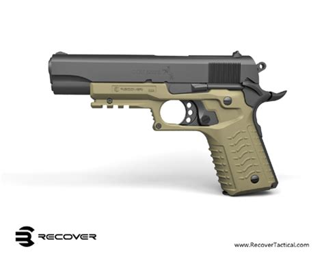 new from recover tactical: cc3 1911 grip and rail the