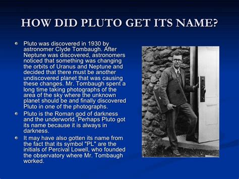 how to a its name pluto