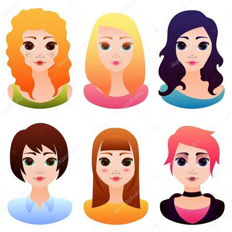 imagenes animes de mujeres avatar de vector con hermosos dibujos animados mujeres