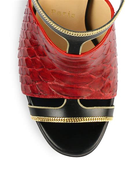 Sandal Heels D Or Christian 350 christian louboutin akenana python leather mule sandals