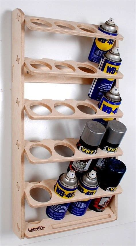 spray paint  lube  wall mount storage holder