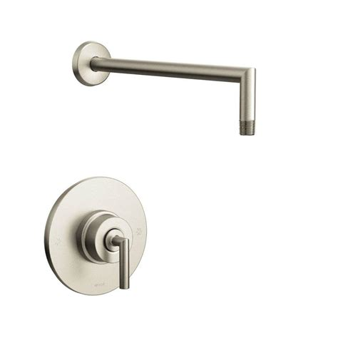 Shower Faucet Temperature by Moen Align 1 Handle Posi Temp Tub And Shower Faucet Trim Kit Less Showerhead In Brushed Nickel