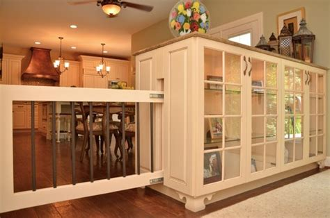 Dining Room Bar Stools what kind of system is used for the sliding dog gate