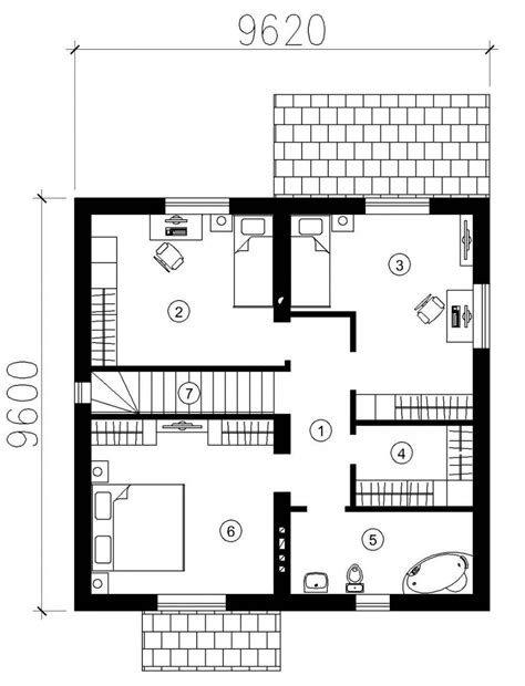 compact floor plans small modern one story house plans