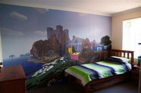 minecraft bedroom ideas minecraft wallpaper for sale on gumtree minecrack