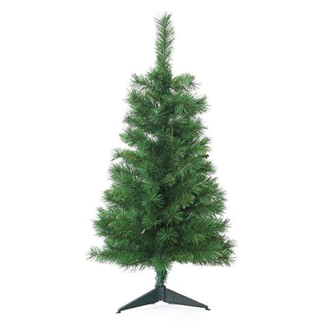 shop jeco 3 ft 118 count slim artificial christmas tree at