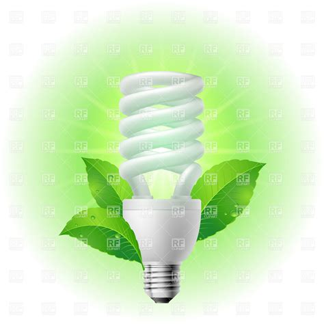 recycle compact fluorescent light bulb vector image 7033