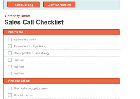 Sales Call Report Template Excel sales call report template call report template
