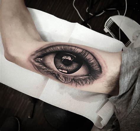realistic eye tattoo human eye on guys arm best design ideas