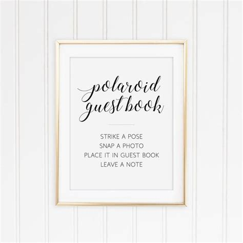 Polaroid Guest Book Sign Printable Guest Book Sign By Orchardberry Polaroid Guest Book Sign Template