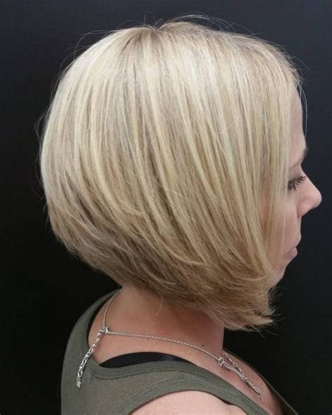 precision wedge with bangs 28 layered bob hairstyles so hot we want to try all of them