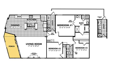 manufactured homes plans mobile home blueprints 3 bedrooms single wide 71 bedroom