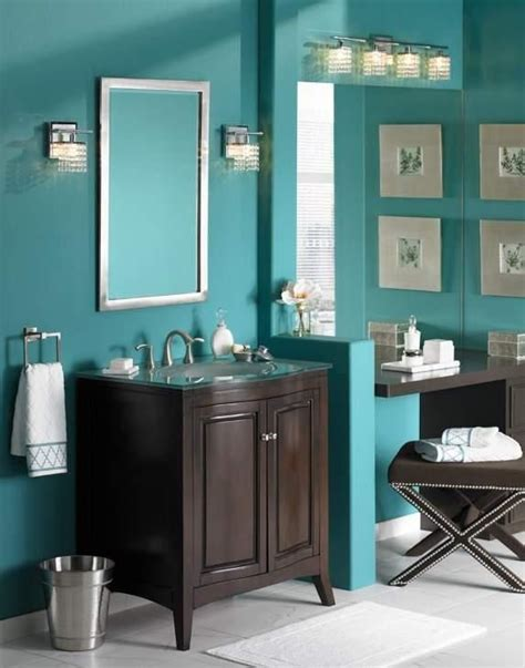 turquoise and brown bathroom accessories turquoise bathroom will i need to paint my cabinets