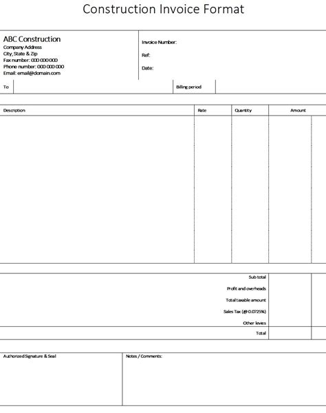 invoice template for work done 40 different types of services invoice templates for free
