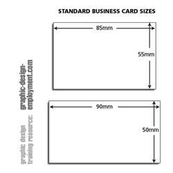 standard size for a business card business card standard sizes
