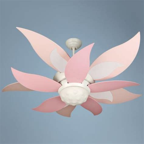 blooming flower ceiling fan 52 quot craftmade bloom pink and white ceiling fan with light