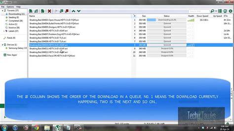 tutorial utorrent windows 8 utorrent tutorial how to work with queues youtube