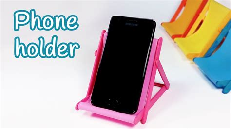 A I Home Decor diy crafts phone holder beach chair from ice cream