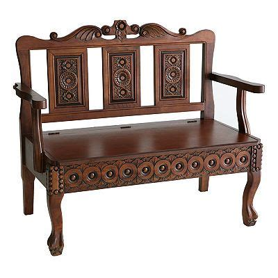 foyer settee carved storage settee for the home pinterest storage
