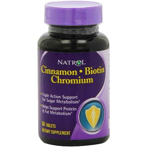 buy natrol cinnamon chromium biotin 60 tablets