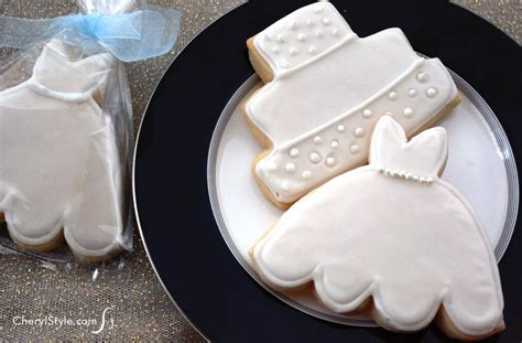 easy bridal shower cookie recipes iced bridal shower cookies everyday dishes