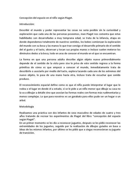 Concepción del espacio en el niño según Piaget   Juguetes