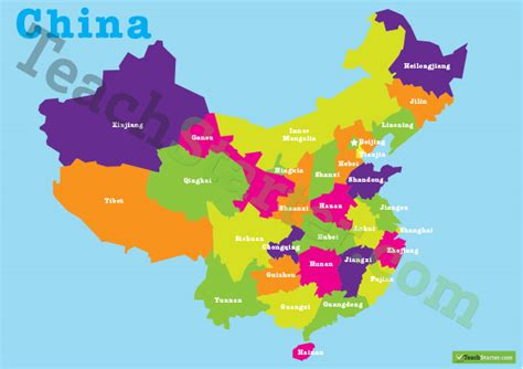 Student Desk Labels Map Of China Teaching Resource Teach Starter