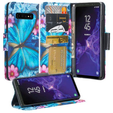 samsung galaxy  case leather flip wallet case cover