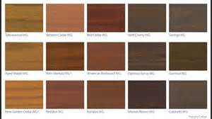 deck stain colors deck stain color chart