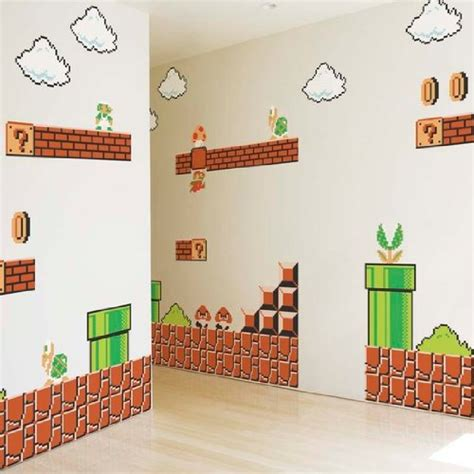 super mario home decor kids room decor blik super mario brothers wall stickers