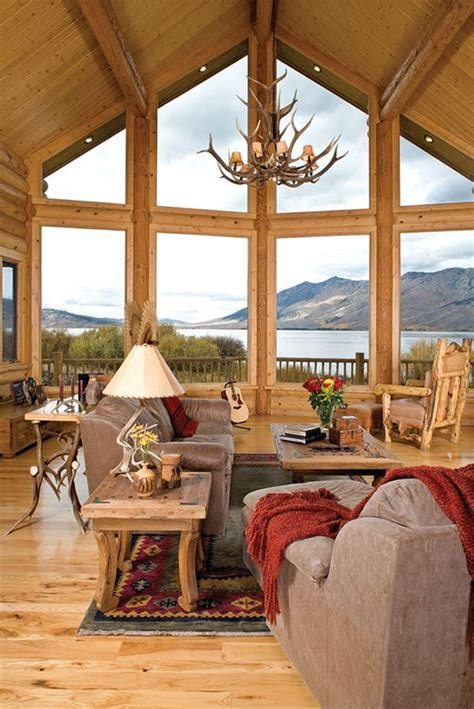 decorating a log home rustic cabin interior design ideas