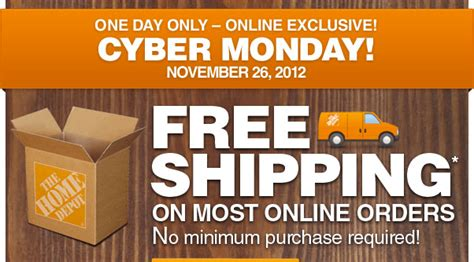home depot cyber monday s offer free shipping on