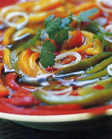 cuisine poivron poivrons grill 233 s marin 233 s pour 6 personnes recettes