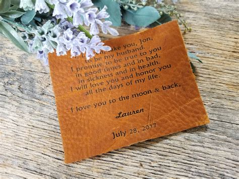 Ask Styledash Gift For Our 3rd Anniversary by 3rd Anniversary Gift Vows Engraved Leather Plaque Custom