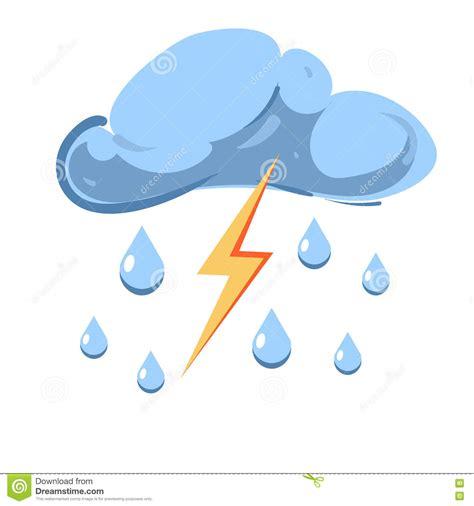 clipart pioggia vector la nuvola con la pioggia di caduta ed il fulmine