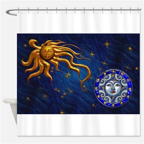 moon shower curtain sun and moon shower curtains sun and moon fabric shower