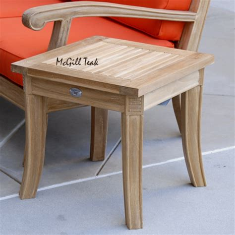 Outside End Tables by Teak Outdoor Garden End Table Royal Patio Side Table
