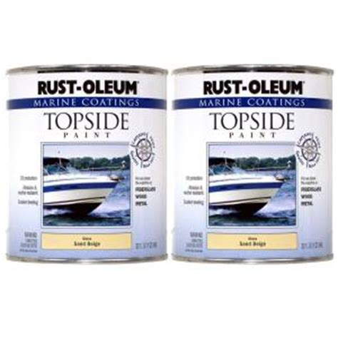 rust oleum marine coatings 1 qt gloss sand beige topside paint 2 pack discontinued 182808