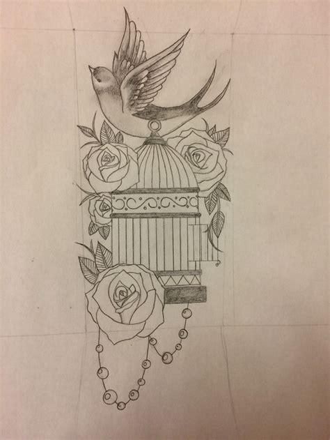 vintage bird tattoo designs 17 best ideas about bird cage tattoos on cage