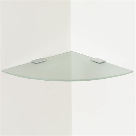 Small Floating Glass Shelf by Small Frosted Curved Glass Floating Corner Shelf Wall